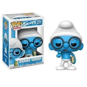 Animation The Smurfs Brainy Smurf Vinyl Figure #27